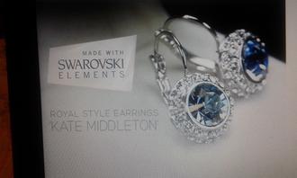 jewels blue diamonds swarovski earrings girly wishlist elegant