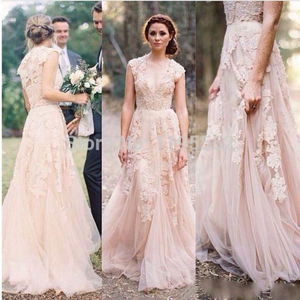 Dress Helloeva Illusion Neck Wedding Bridal Gown Long