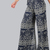 Printed Wide Leg Flow Pants NAVY -SheIn(Sheinside)