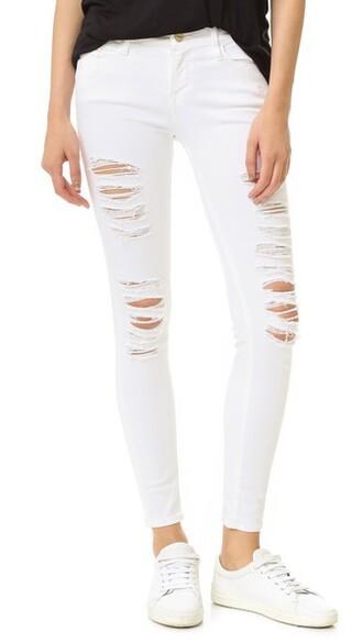 jeans skinny jeans blanc