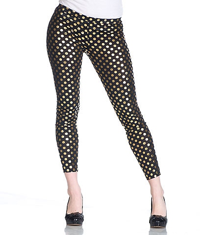 FOIL PRINT POLKA DOT LEGGING - Black - ESSENTIALS | Jimmy Jazz