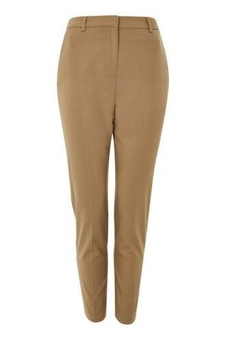 high waisted high camel pants
