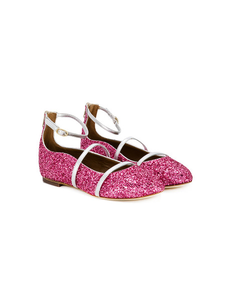 MALONE SOULIERS glitter shoes leather purple pink 24