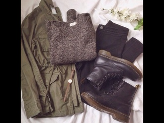 sunglasses khaki black pants high waisted pants fall sweater fall outfits coat watch boots