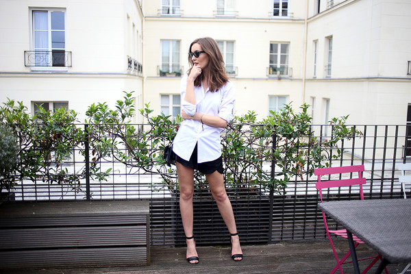 anouska proetta brandon blogger sunglasses shirt shorts shoes