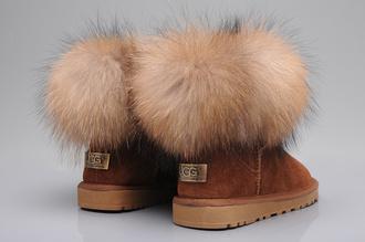 shoes camel ugg boots fur australian brand ugg fox fur boots shoes winter uggs fur pink fur brown fur pink