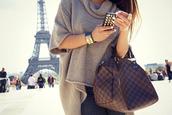 sweater,paris,winter sweater,knitted sweater,knitwear,brown,cute,big,oversized,beautiful,grey blouse,warm,sweet,cute sweaters