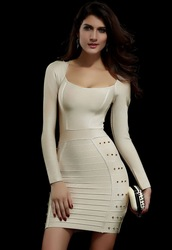 Online Shop Free shipping new 2014 sexy women dress Ladies Beige Studded Evening Bandage Dress LC28011|Aliexpress Mobile