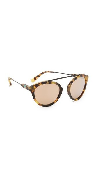 matte rose gold rose sunglasses gold