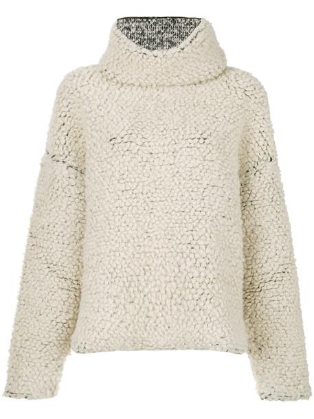 PORTS sweater oversized sweater oversized women nude wool