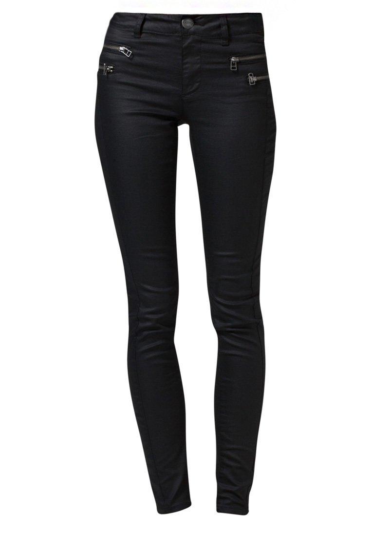 ONLY OLIVIA COATED - Jeans Slim Fit - black - Zalando.de
