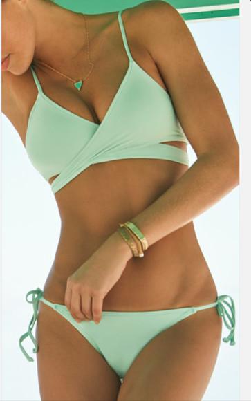 mint swimwear pinterest bikini strappy bikini