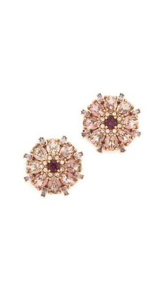 statement earrings stud earrings purple jewels