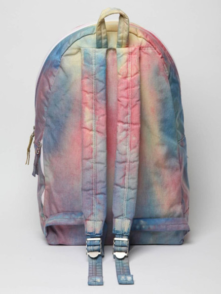 pastel multi-colored backpack cosmic tie dye
