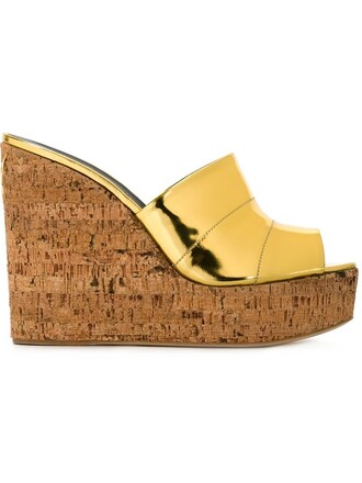 mules metallic shoes