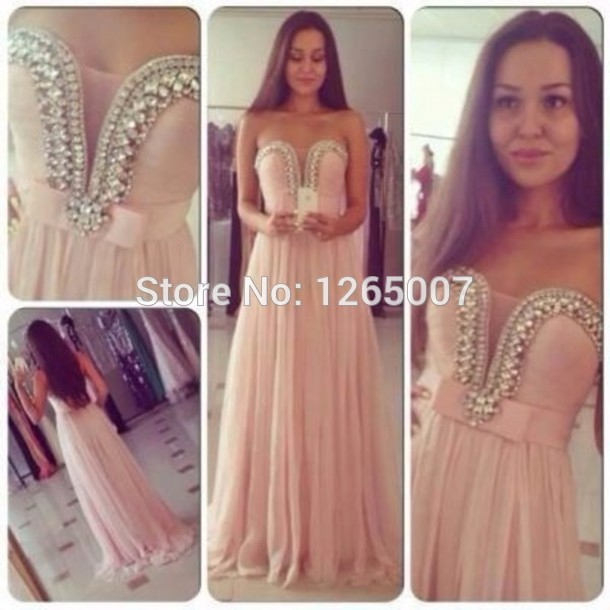 Aliexpress.com : Buy Arabic Fashion Sweetheart Diamond Beaded Pearl Pink Cute A Line Classy Prom Dress Formal Maxi Long Dress Girly Beautiful Formal from Reliable dress up wedding dresses suppliers on SFBridal