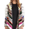 Elizabeth and james tarra rabbit and coyote fur jacket in multi from revolve.com