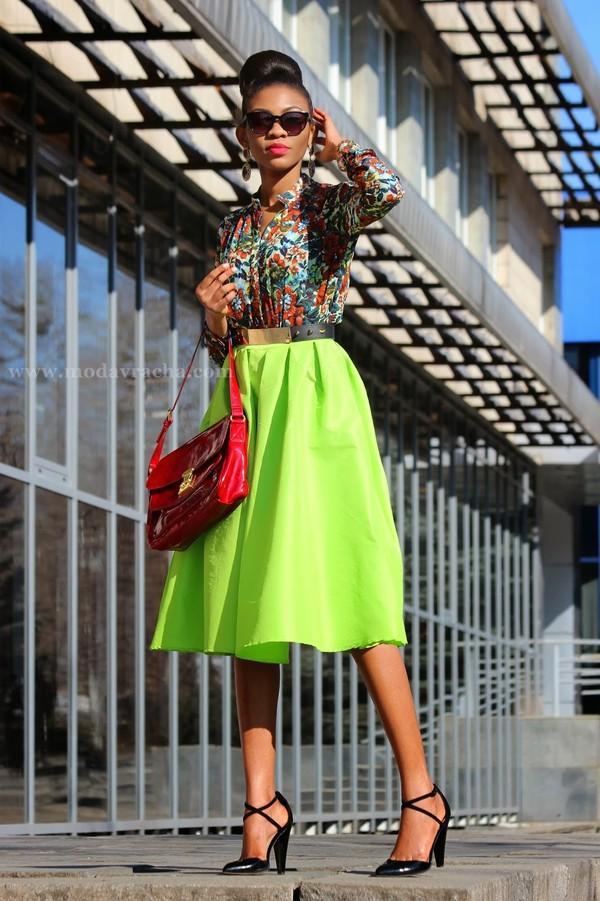 blouse neon