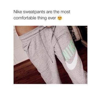 leggings pajamas pants nike pants gray andaqua sporty nike grey aqua comfy nike sportswear grey sweatpants trendy grey nike workout