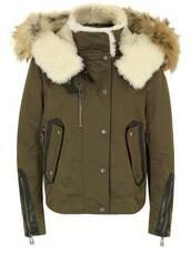 coat,parka,Khaki coat
