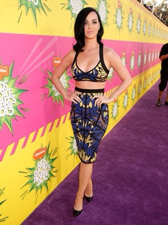skirt katy perry tribal pattern midi skirt crop tops