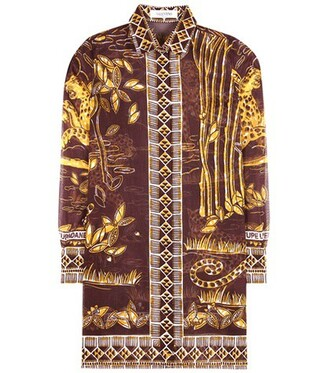 shirt cotton brown top