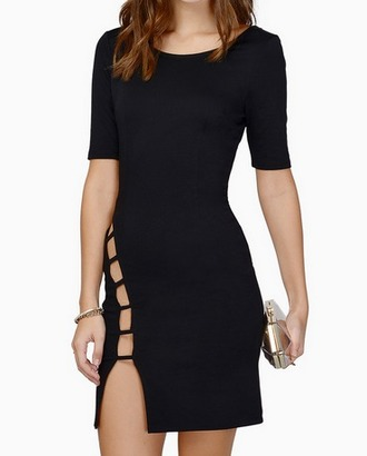 dress cut-out dress little black dress mini dress tight black dress tight dress backless dress pretty party dress clubbing outfits outfit revealing daring