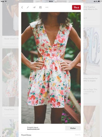 dress closer print geometric summer dress cut-out dress