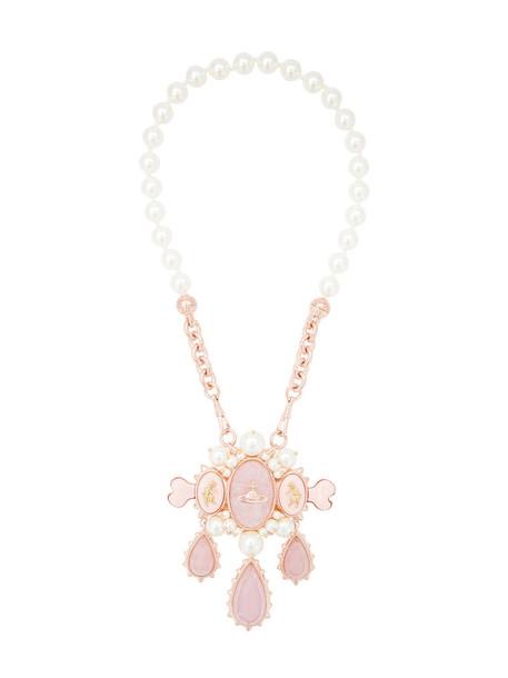 Vivienne Westwood women necklace grey violet metallic jewels