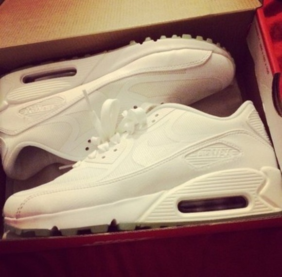 shoes white shoes white nike air max 90