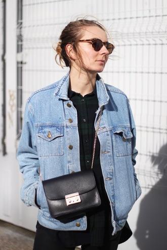 jane's sneak peak blogger jacket jeans shirt shoes bag sunglasses