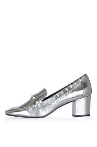 Topshop pearl loafers shoes