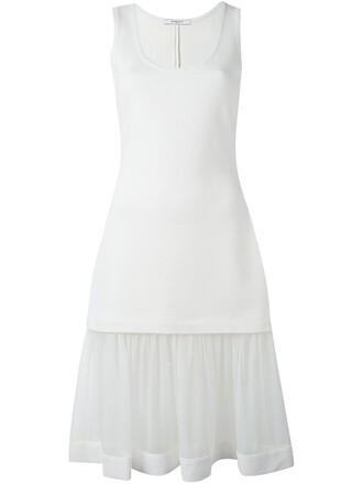 dress sheer white