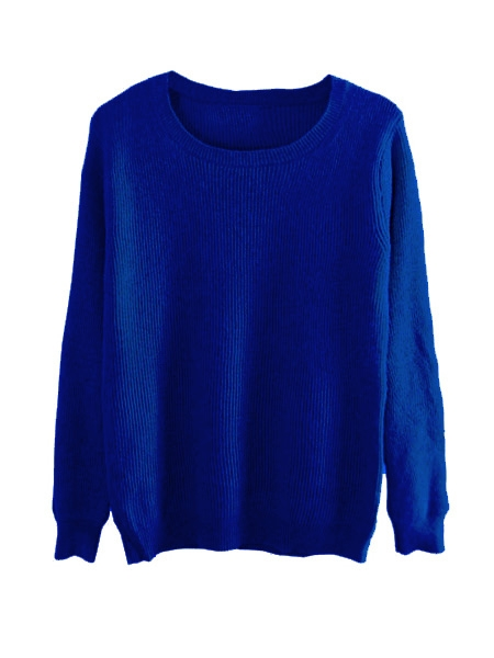 Angora Jumper In Royalblue | Choies