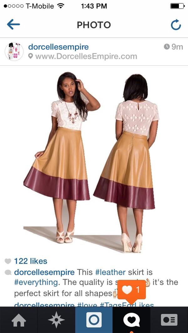 skirt leather skirt nude colorful