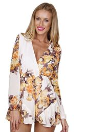 romper,floral romper,long sleeve playsuit,lined romper,lined playsuit,www.ustrendy.com,long sleeve romper