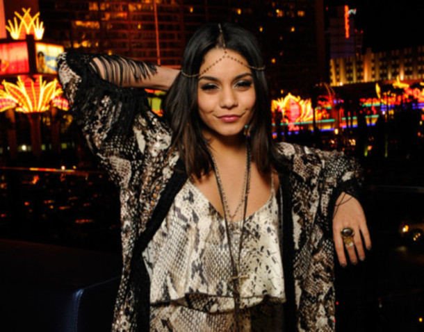 vanessa hudgens hair accessory jewelry blouse jewels