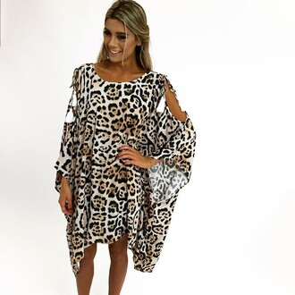 dress kaftan leopard print peppermayo talulah