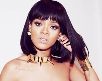 jewels rihanna gold collier boucle d'oreille sexy tattoo perles spikes pique badagalriri choker necklace necklace dog collar short hair this necklace