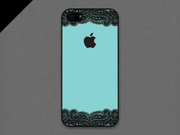 phone cover lace black blue phone cover apple