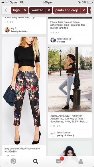 pants oriental print silk black high waisted pants