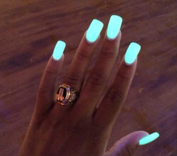 nail polish glow in the dark neon nail polish blue