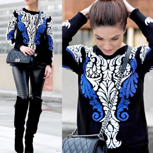 cardigan pattern baroque winter sweater
