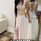 Niceoo dresses | white a line princess scoop neck floor length chiffon prom dresses
