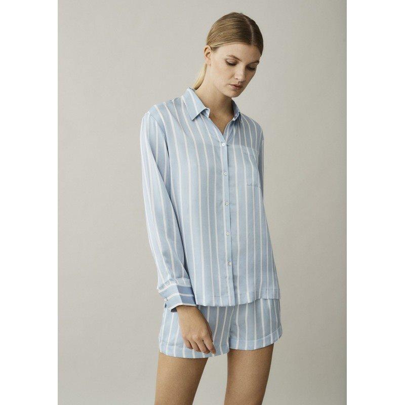 London Sky Stripe Silk Shirt