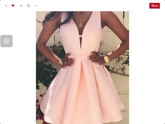 dress pastel pink