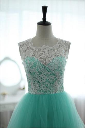 dress long prom dress white lace lace
