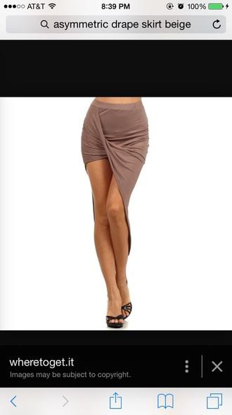 skirt beige skirts asymmetrical skirt short skirt