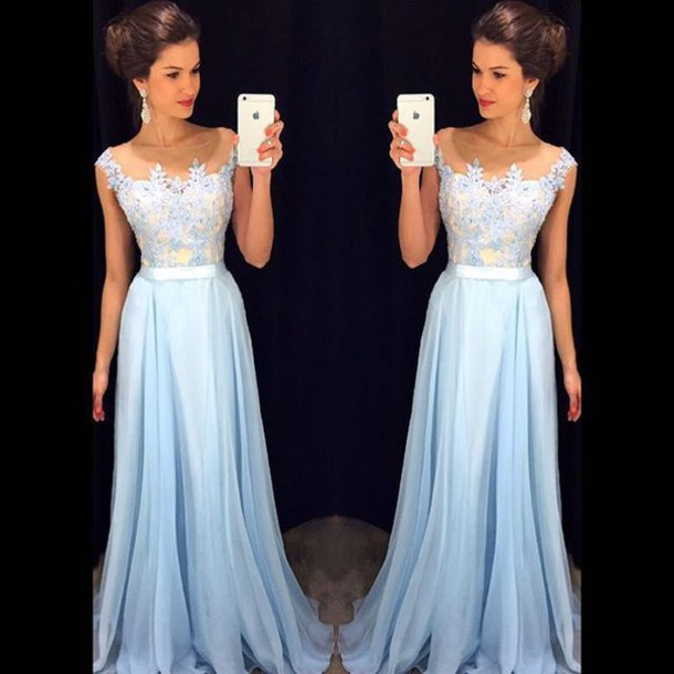 66f25ec8579 prom dress blue prom dress light blue gown bridesmaid long prom dress dress  prom beautiful prom