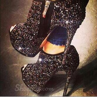 shoes heels ankle boots booties boots high heels heeled boots heeled ankle boots black black shoes